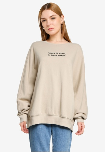 LOWRYS FARM brown Print Sweater B8127AAE582DFBGS_1