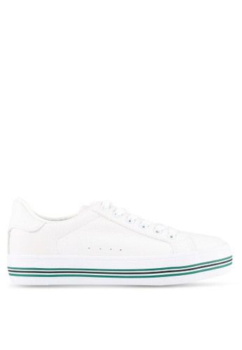 Twenty Eight Shoes white Striped Platform Sneakers TW281SH0S0I2MY_1