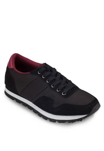 異材質拼接休閒鞋, 女鞋,zalora退貨 休閒鞋