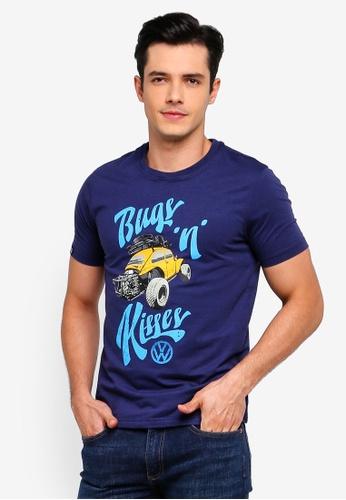 Volkswagen 海軍藍色 短袖印花T恤 7FD78AAAB73914GS_1
