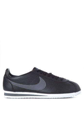 best loved 8a0b5 13008 Nike black Classic Cortez Leather Shoes 404ACSH4AA205BGS 1