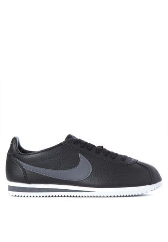 Nike black Classic Cortez Leather Shoes 404ACSH4AA205BGS_1
