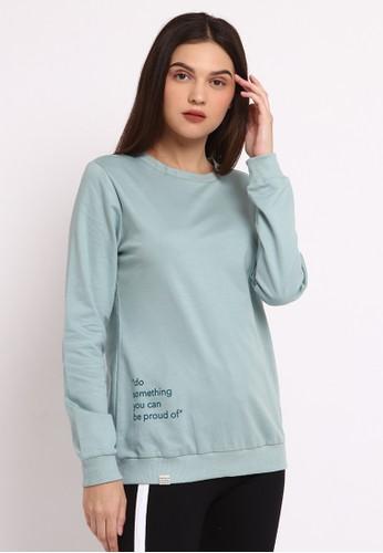 Osella green Osella Baju Perempuan Sweater Print Mint Green 4C985AA32612DEGS_1