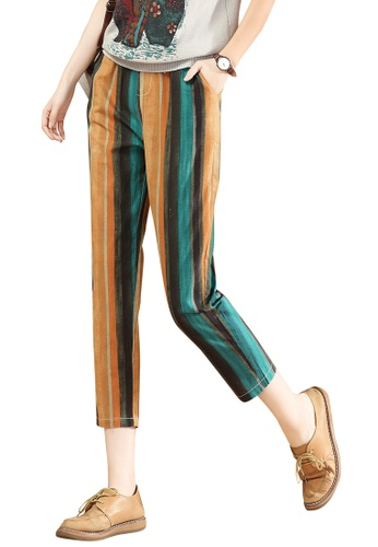 A-IN GIRLS multi Elasticated Waist Stripe Trousers F4A41AA94FA82AGS_1