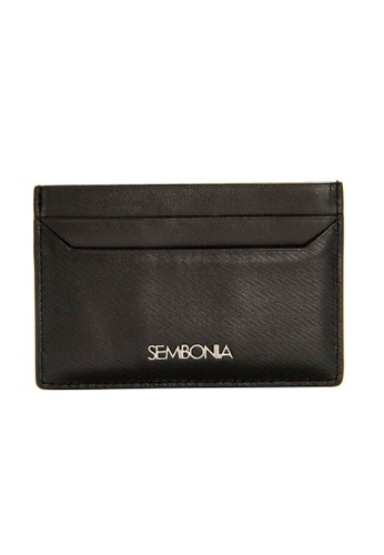 SEMBONIA black SEMBONIA Leather Card Holder (Black) SE598AC0RBH6MY_1