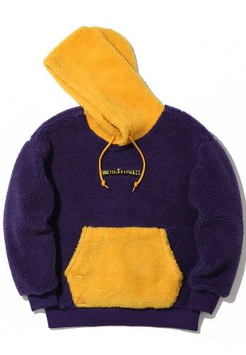 Mini cream purple Slogan teddy hoodie DF3CBAA5BA7903GS_1