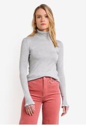 Mango grey Turtle Neck Sweater MA193AA0RK7YMY_1