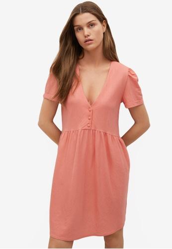 Mango pink Short Flowy Dress E3275AA01EB651GS_1