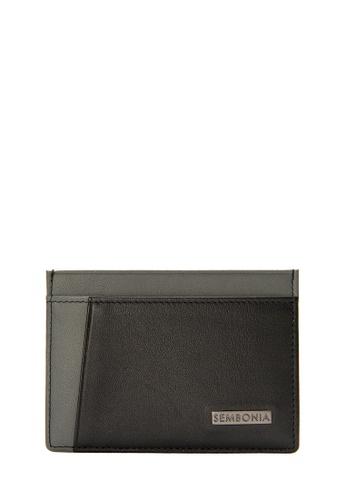 SEMBONIA black SEMBONIA Men Genuine Leather Card Holder (Black) 0E4D5ACF2C9A30GS_1
