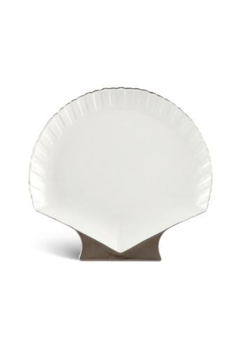 Minh Long I Fish & Clam: Porcelain Shell-Shaped Plate (31cm) A6366HL25A046DGS_1
