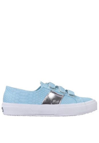 Superga blue Superga Strap Embossed - Blue Maldives 49EA4SHDA2DD0BGS_1