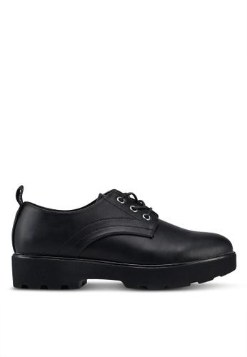 ONLY 黑色 時尚牛津鞋 3D231SH173C47AGS_1