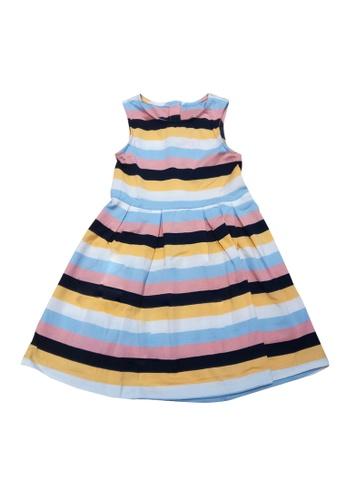 POP Shop multi Girls' Stripes Sleeveless Dress 18FA8KA308B60AGS_1