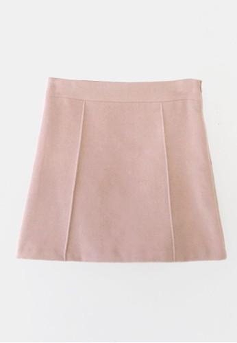 線條細節羊毛短裙, esprit鞋子服飾, 裙子