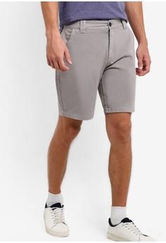 【ZALORA】 背部口袋細節棉質短褲