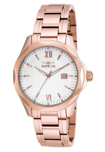 INVICTA gold Invicta Specialty Men 41mm Case Rose Gold Stainless Steel Strap Silver Dial Quartz Watch 18110 w/ Cap IN968AC0FKMFSG_1