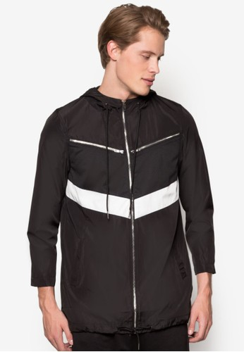 撞色esprit旗艦店拼接長版風衣外套, 服飾, 輕薄外套