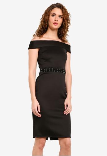 Dorothy Perkins black Bardot Pencil Dress DO816AA0RMYOMY_1
