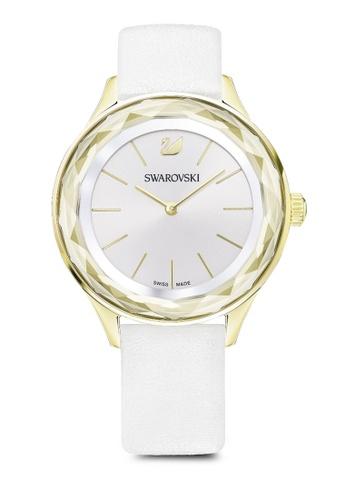Swarovski white Octea Nova Leather Strap Watch 9B4A2AC5B133BCGS_1
