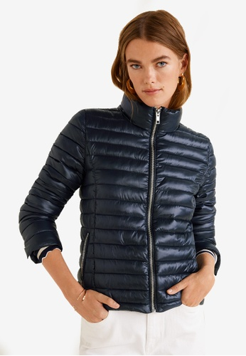 Mango black Contrast Liner Quilted Jacket 31FB7AA1262383GS_1
