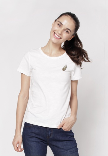 Eighteen Plus white Round Neckline T-Shirt A92BDAAA173FC6GS_1