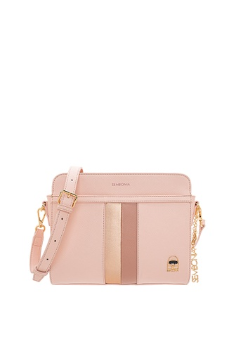 SEMBONIA pink SEMBONIA Synthetic Leather Crossbody Bag (Pink)  0E000ACF32758EGS 1 f8cfce65dc
