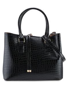 c70bc32ab64 ALDO black Frenarien Structured Hand Bag 44B94ACBE98540GS 1