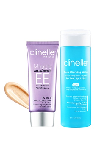 Clinelle Makeup: Clinelle [Official] WhitenUp EE Cream - Ivory (30ml) + Deep Cleansing Water (180ml) CL708BE31SVKMY_1