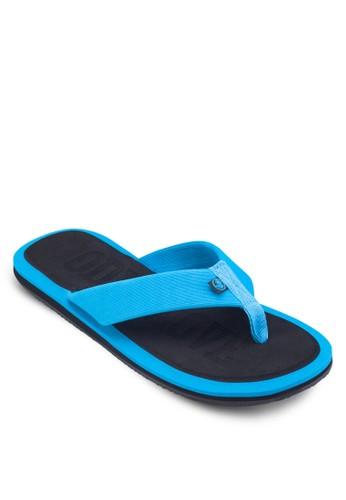 撞色夾腳拖鞋,zalora taiwan 時尚購物網鞋子 鞋, 鞋