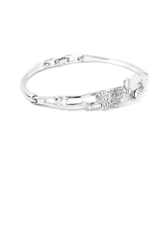 Glamorousky silver Cutie Butterfly Bangle with Silver Austrian Element Crystals 84800ACFC591E5GS_1
