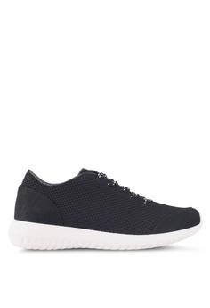 ZALORA black Knit Sneakers 42F66SHCE17E54GS_1