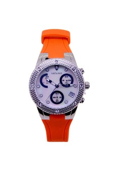 Sk Time Japan Design Silver Plating Fashion Cow Leather Watch
