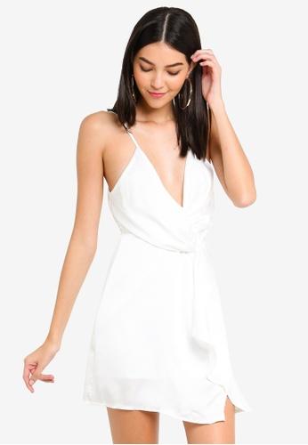 35e759a0d76 Buy MISSGUIDED Satin Strappy Wrap Shift Dress Online on ZALORA Singapore