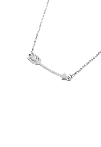 Glamorousky silver Simple and Fashion Cupid's Arrow 316L Stainless Steel Pendant with Necklace 6C992ACBE96D0DGS_1