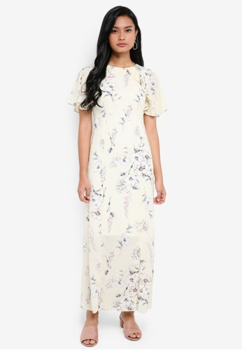 76e23fff78 Dorothy Perkins yellow Petite Yellow Floral Foil Maxi Dress  91B88AAE1A07A7GS_1