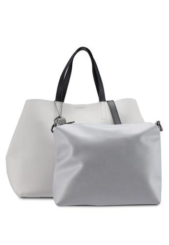 Perllini Mel grey Faux Leather Top Handle Satchel Bag 4E204AC0D2FFFAGS 1 760beb133eb0e