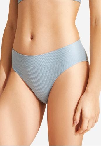 Women'Secret blue Classic Blue High Waist Seam-Free Panty C98EFUS1E6CBE5GS_1