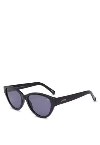Quay Australia black Rizzo Sunglasses 0E434GLB258827GS_1