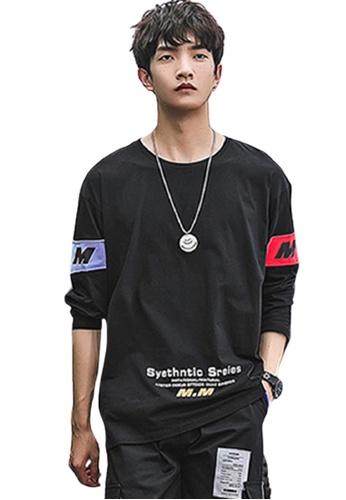 Trendyshop black Simple Long Sleeves Tee 88DFFAA74DCD7BGS_1
