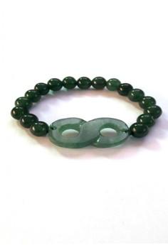 Feng Shui Jade Infinity Lucky Eight Bracelet