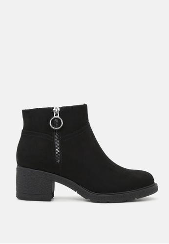 London Rag black Stack Heel Ankle Boots SH1812 A3EBFSHCD4017FGS_1