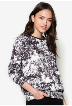 Love Printed Scuba Sweatshirt