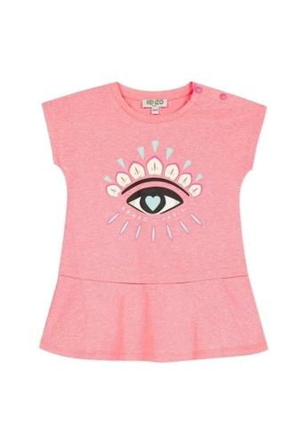 KENZO KIDS pink KENZO BABY GIRLS DRESS 8B41FKAD934519GS_1