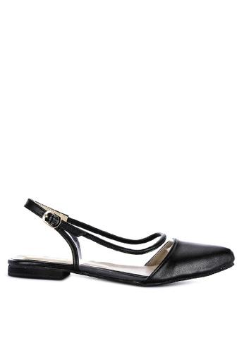 Mishka black Nessa Pointed Toe Flats ECD38SH4416361GS_1