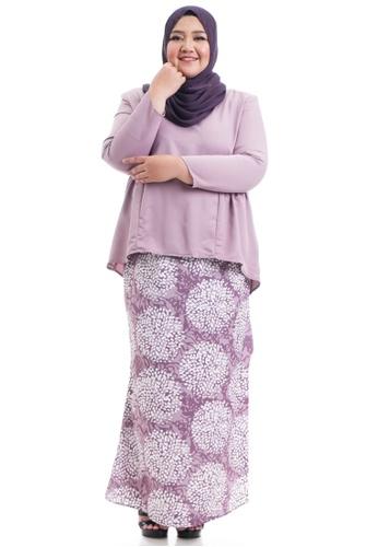 Ashura purple Shakela Kurung With Gathers Plus Size 7516FAA3C368D6GS_1