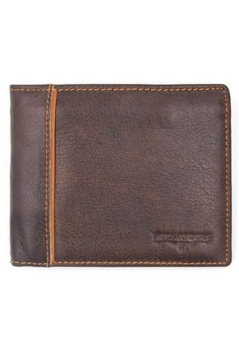 midzone brown Genuine Leather Bifold Wallet MI949AC85IWOMY_1