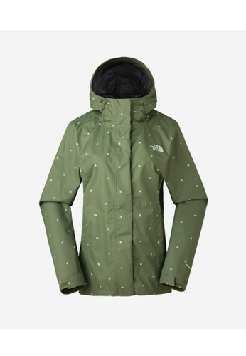 126227afc The North Face Print Venture Jacket Four Leaf Clover Outdoor Print