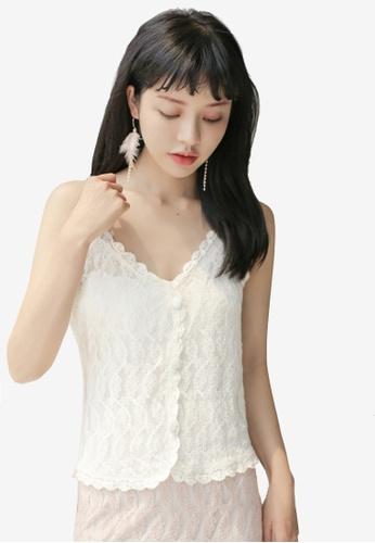 Shopsfashion 米褐色 Crochet Cami Top 2FA3CAA49240E9GS_1
