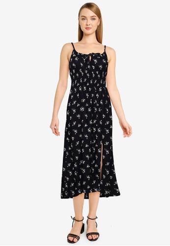 Hollister black Midi Dress 57AD6AA09039E1GS_1