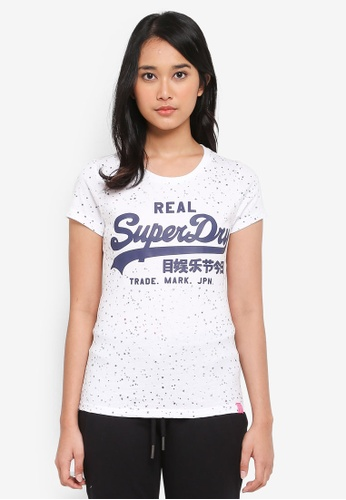 Superdry white Vintage Logo Star Aop Entry Tee AFDE8AA8E873FAGS_1